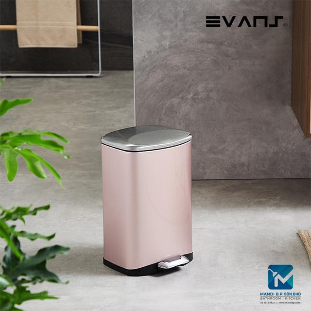 Evans Stainless Steel Dustbin 6 Liter Rectangular Garbage