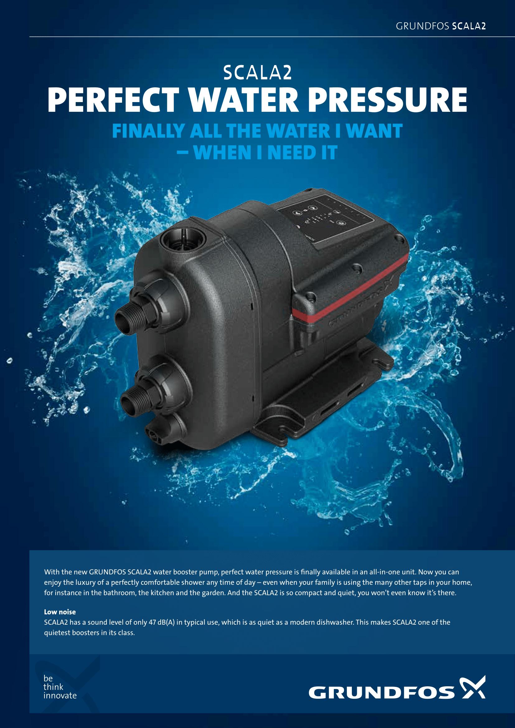 Grundfos Scala 2 Water Booster Pump 0 77hp